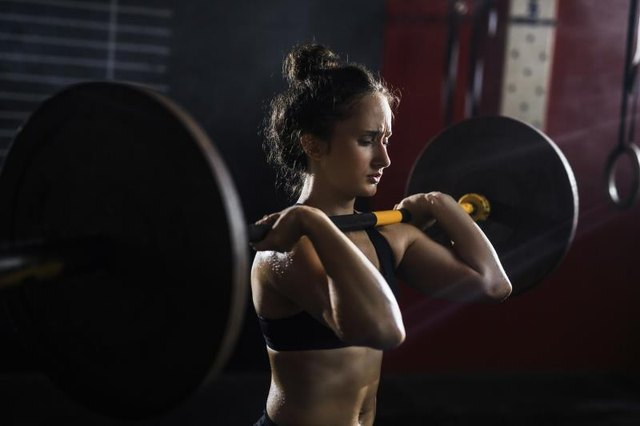 A barbell allows you to press more weight.