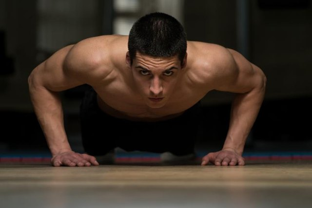 Push-ups can help build punching power.