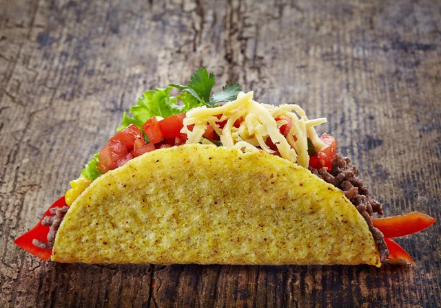 You can make your own healthy hard-shell tacos that you can fill with ground beef, chicken or turkey at home.