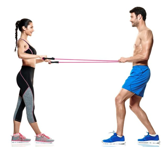 Rows using a resistance band target your postural muscles.