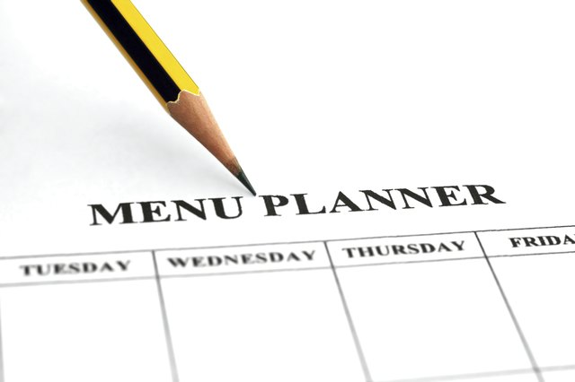 Plan menus and meals for a healthy lifestyle.
