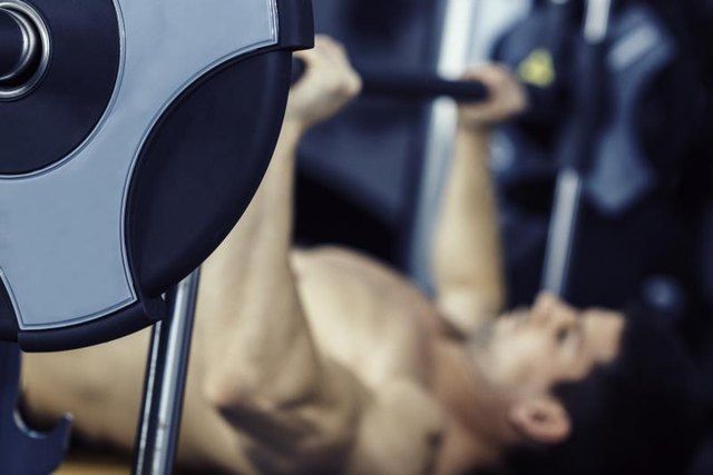 The smith machine bench press.