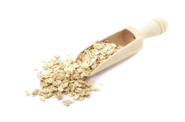 Oats in a scoop.