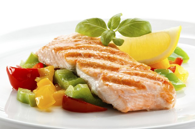 Vitamin A occurs in green vegetables and salmon.