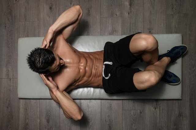 Ab-specific exercises don't burn fat, but create muscle to be revealed.