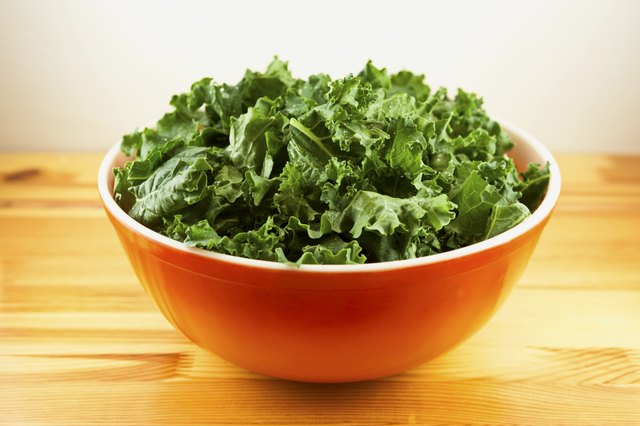 Large bowl filled with kale