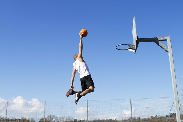 Basketball player with high vertical jump