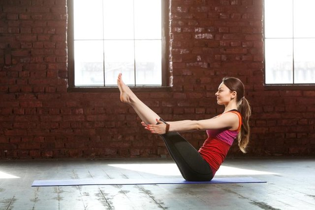 Boat pose may sound leisurely, but it's anything but easy!