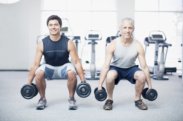 The lung and squat are the most basic and exercise with dumbbells for the lower body.