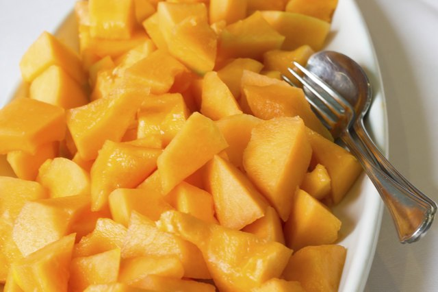 soft sliced cantaloupe