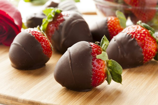 chocolate covered strawberries make a romantic treat