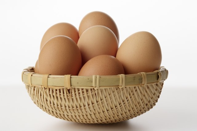 Eggs are high protein.