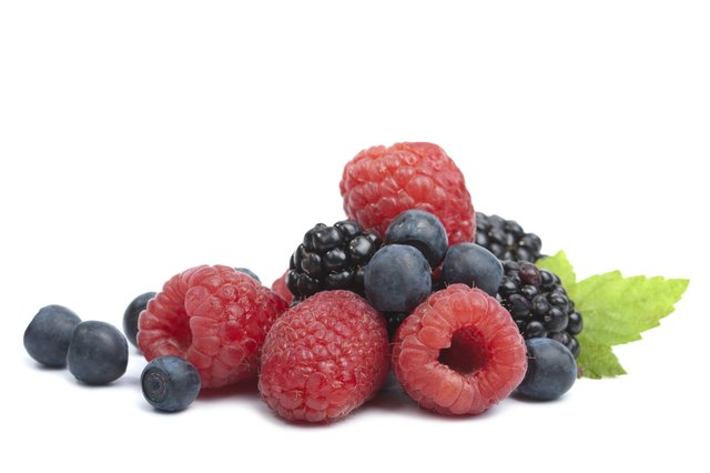 Fruits have fiber.