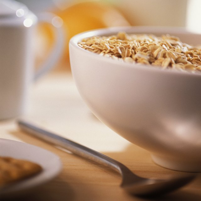 A bowl of whole grain cereal.