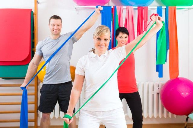 Shoulder Exercises With Resistance Bands Livestrong Com