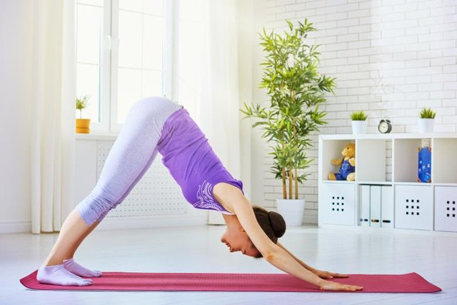 Downward Dog should be avoided or modified to avoid compensating with the low back.