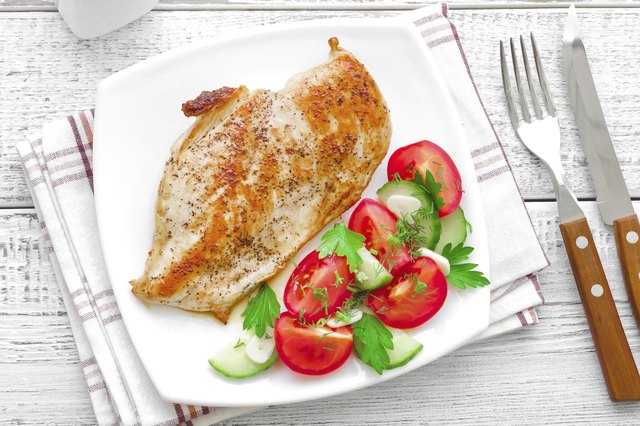 Turkey breast is high in protein.