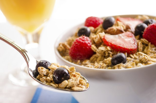 bowl of granola cereal