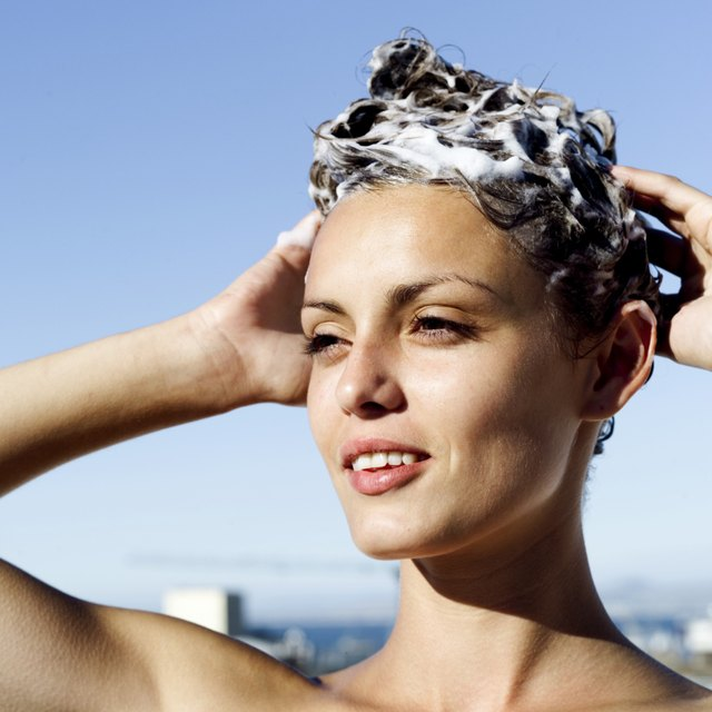 Conditioner forms a protective layer on the hair to guard against chlorine damage.