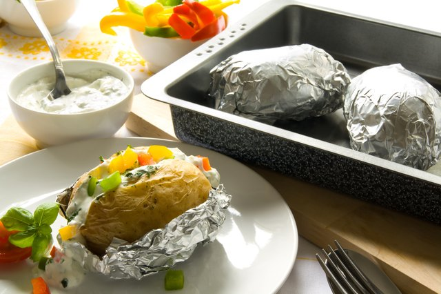 Be sure to remove baked potatoes from their foil when done cooking.