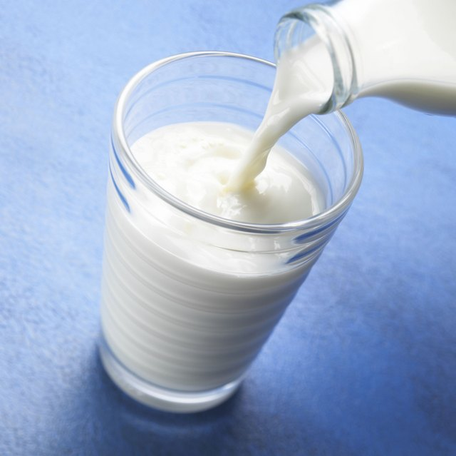 A glass of whole milk.