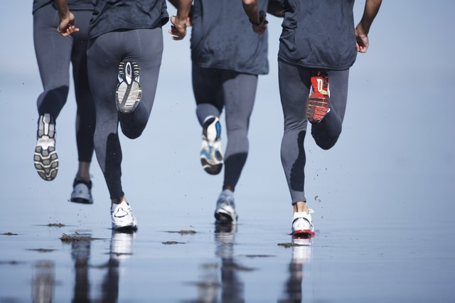 Running is a great way to slim calves.