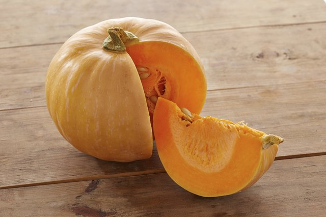 sliced raw pumpkin