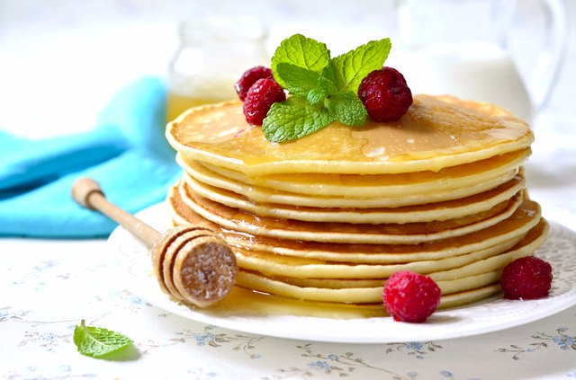 Corn starch pancakes have slightly thicker texture.