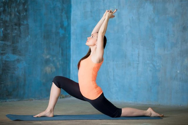 Kneeling lunge is an alternative to standing poses.