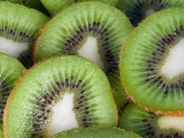 close up of sliced kiwi