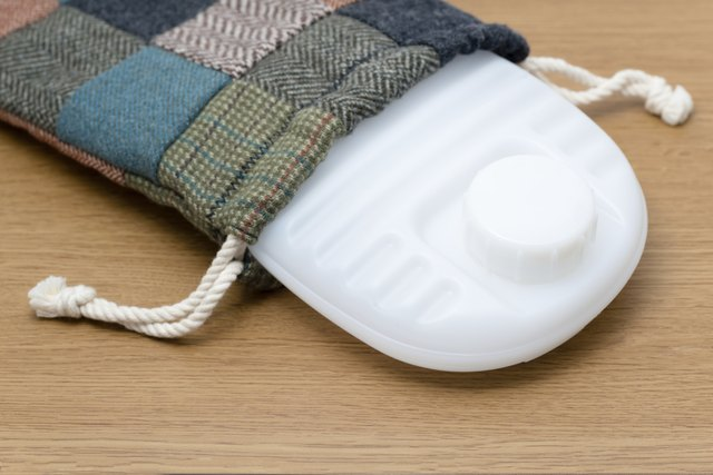 Hot water bottle with case