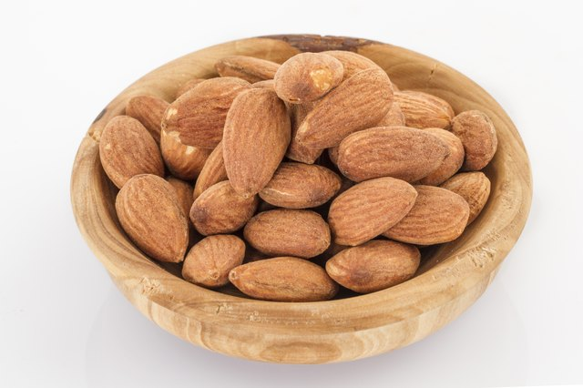 Almonds are a magnesium-rich snack food.