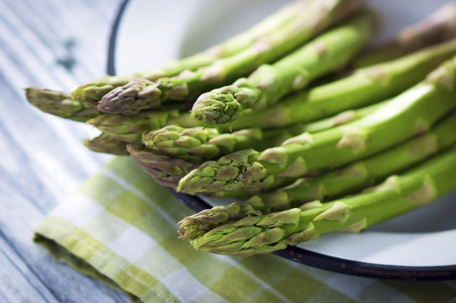 Asparagus is rich in vitamins and folate.