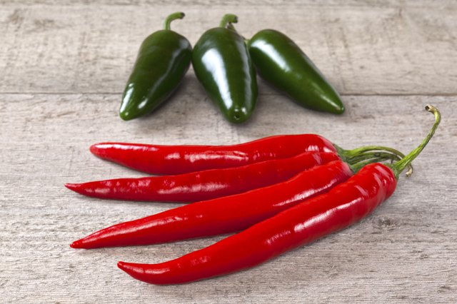 spice up dishes with hot peppers