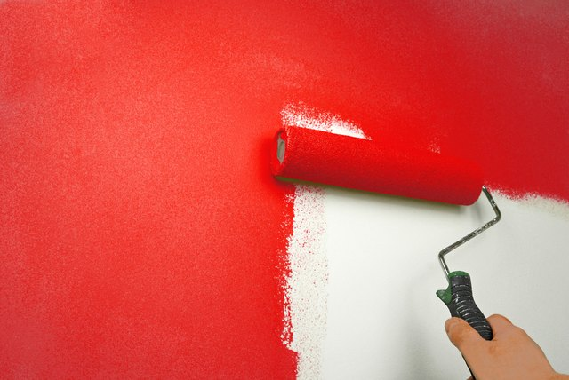 red paint on wall