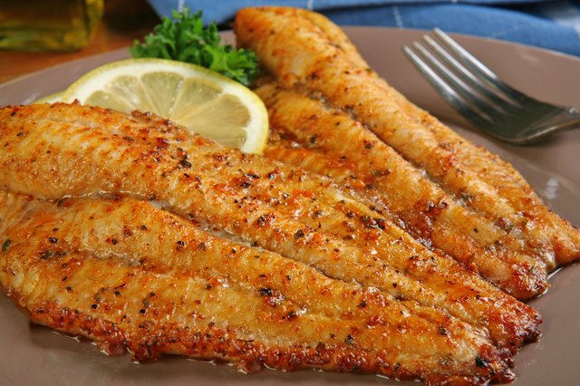 Catfish filets in cajun spice