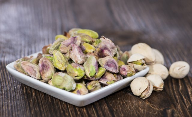 Pistachios are low in vitamins A, C and E, but they contain large amounts of two of the B vitamins.