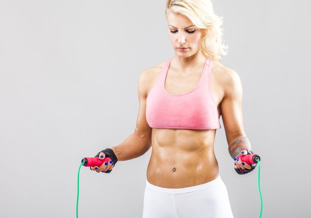 Jumping rope is a calorie burning exercise.