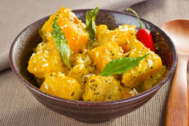 Turmeric is found in many curry dishes.