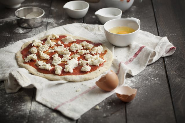 Making your own pizza will reduce the calories per slice.