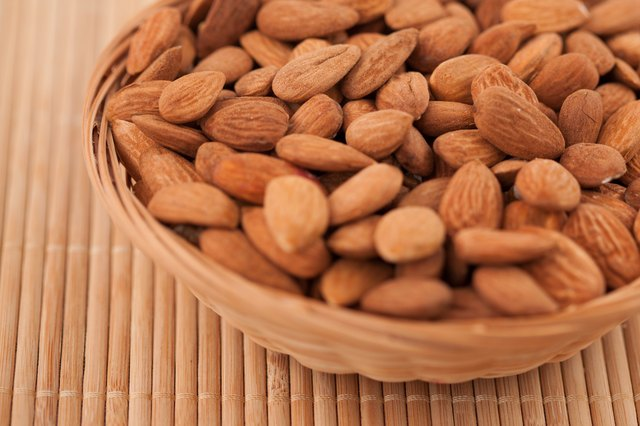 nuts like almonds are high in both protein and fat