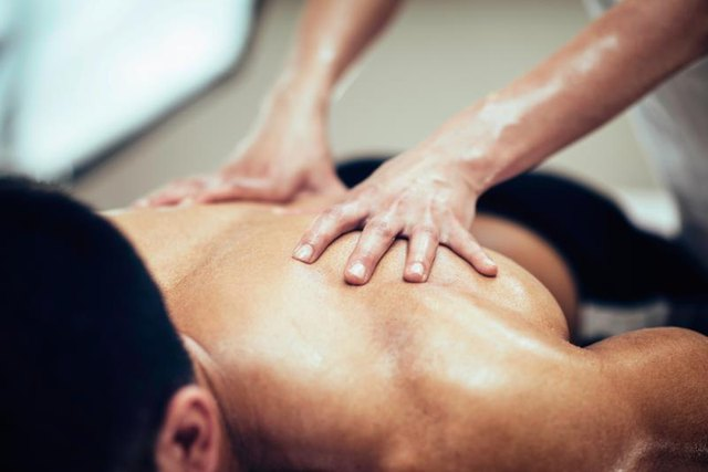 A massage can help work out pain in the affected area.