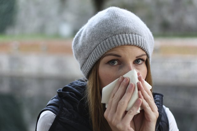 woman with stuffy nose