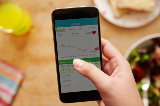 Use apps on your phone like Livestrong.com's MyPlate to track your daily calories.