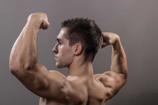 The double biceps pose is meant to showcase just about every muscle.