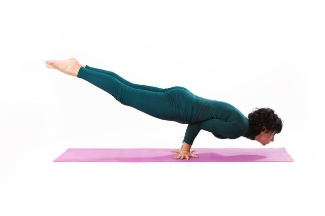 A full planche push-up looks like you're levitating.