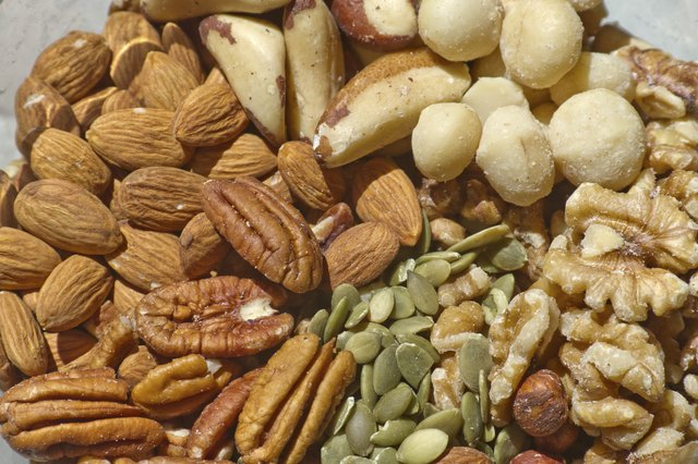 Eating nuts can help increase metabolic rate.