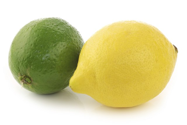 Lemon and lime fruits contain Vitamin C.