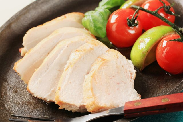 Sliced chicken with tomatoes