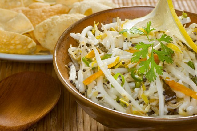 Indian salad made with mung bean sprouts